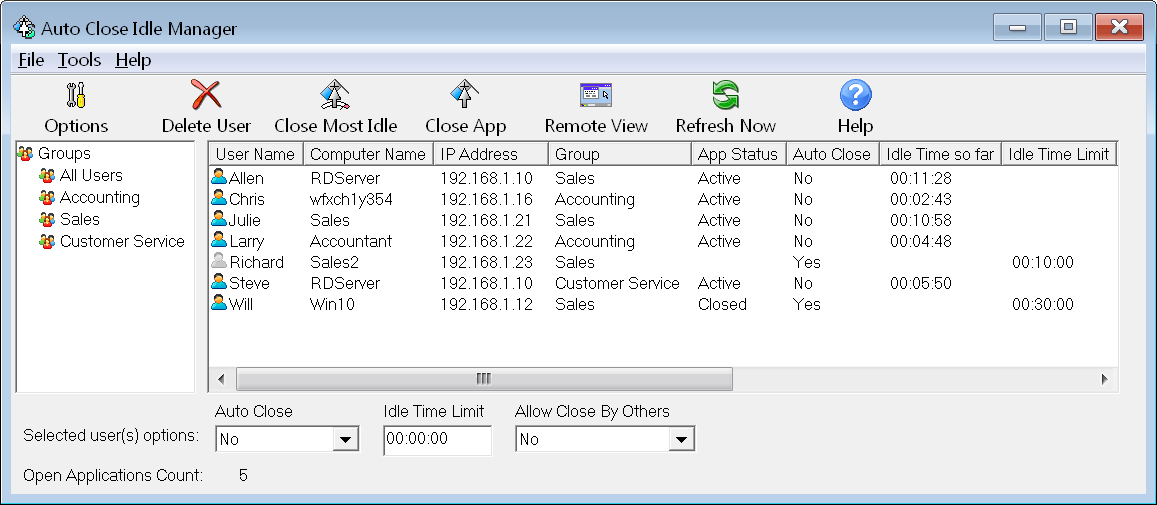 Auto Close Idle Programs, Accounting, Financial, and Database ...